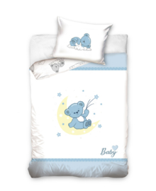 Baby Dekbedovertrek Bear (blue) 100x135
