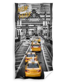 Strandlaken New York Yellow Cab (grijs/geel)