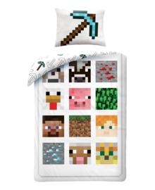 Minecraft Dekbedovertrek Defeat (white) 140x200