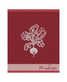 DDDDD Keukendoek Radish (red)