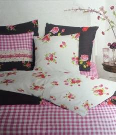 Bedpakket Flower (black) 140x200/220