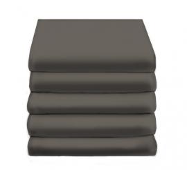 Hoeslaken Satijn Katoen (dark grey)