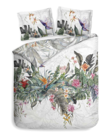 Heckett & Lane Dekbedovertrek Maha (floral white) 200x200/220