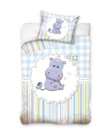 Baby Dekbedovertrek Boy Hippo (multi/blue) 100x135