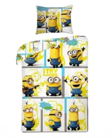 Despicable Me Dekbedovertrek Try Harder (white) 140x200