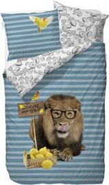 Covers & Co Dekbedovertrek Lemon Lion (blue) 140x200/220
