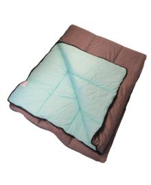 Slaapzak 350 (grijs/aqua) 80x210