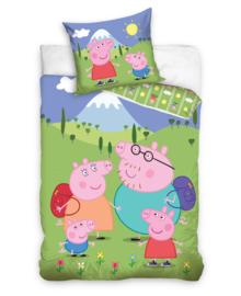 Peppa Pig Dekbedovertrek Family Holiday (multi) 140x200