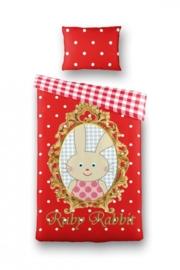 Dekbedovertrek Ruby Rabbit (rood) 140x200