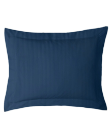 iSleep Kussensloop Satijnstreep (donker blauw) 60x70