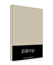 iSleep Split-Topper Hoeslaken Perkal Katoen (medium beige)