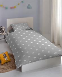 Good Morning Dekbedovertrek Stars (grey) 100x135