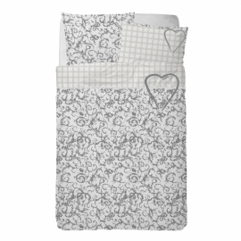 Stapelgoed Dekbedovertrek Sweet Heartz (grey) 120x150