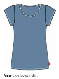 Marieke at Home Dames Shirt Anne (blue)