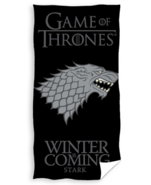 Game of Thrones Strandlaken Winter is Coming (black)