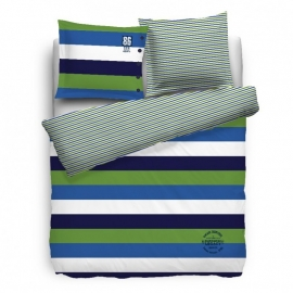 Cottonfield Dekbedovertrek Legacy (blue/green) 200x200/220