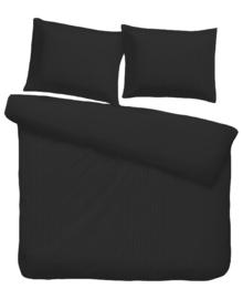 iSleep Dekbedovertrek Satijnstreep (zwart) 240x200/220