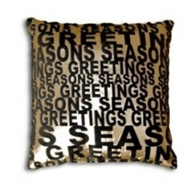 Essenza Sierkussen Seasons Greeting (black/gold)