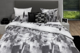HnL Flanel Dekbedovertrek Night Sky (grey) 200x200/220