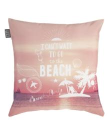 KAAT Amsterdam Sierkussen Beach Party (coral) 45x45