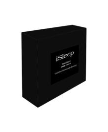 iSleep Hoeslaken Dubbel Jersey (zwart)