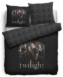 Twilight Dekbedovertrek Cullens (black) 140x200/220