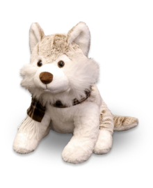 Unique Living Plush Husky (brown) 32 cm
