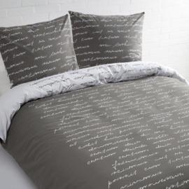 Day Dream Dekbedovertrek Tekst (grijs) 240x200/220