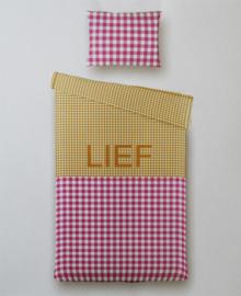 Dekbedovertrek LIEF (roze/rood) 140x200