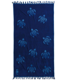 Seahorse Strandlaken Hamam Tartaruga (ocean blue)
