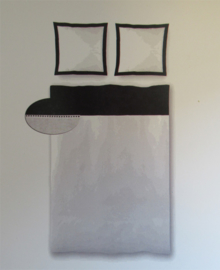 Brighton Dekbedovertrek Ajour (zwart/wit) 140x200/220
