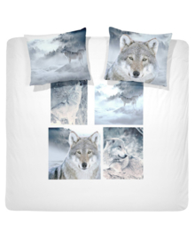 Damai Dekbedovertrek Wolves (grey) 200x200/220