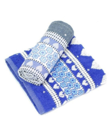 Bunzlau Castle Keukendoek Valentine (royal blue)