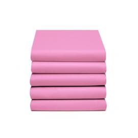 Hoeslaken Katoen (roze)