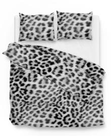 Zo! Home Flanellen Dekbedovertrek Snow Leopard (grey) 140x200/220