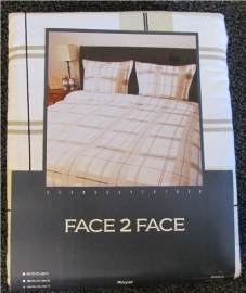 Face2Face Flanellen Dekbedovertrek Royal 240x200/220