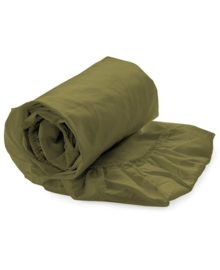 HNL Royal Cotton Split-Topper Hoeslaken Perkal Katoen (burnt olive)