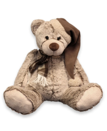 Unique Living Plush Bear Santa (brown) 37 cm