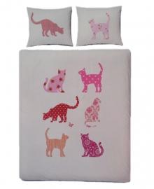 Covers & Co Dekbedovertrek Crazy Cats (white) 240x200/220
