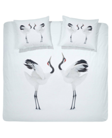 Damai Dekbedovertrek Crowned Crane (white) 240x200/220