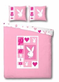 Playboy Dekbedovertrek Letters (pink) 140x200/220