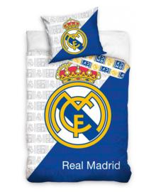 Real Madrid Dekbedovertrek RMCF Logo (white/blue) 140x200