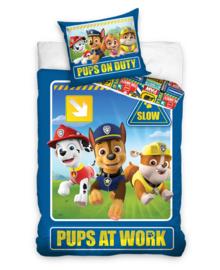 Paw Patrol Dekbedovertrek Pups at Work (blue) 140x200