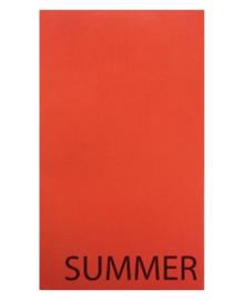 Strandlaken Summer (oranje) 100x200