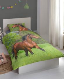 Good Morning Dekbedovertrek Running Horse (multi) 140x200/220