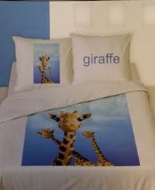Dekbedovertrek Giraffe (blauw) 140x200/220
