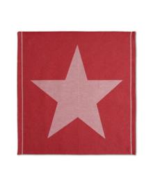 DDDDD Theedoek Star (red)