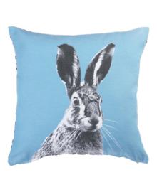 KAAT Amsterdam Sierkussen Colored Hare (blue) 43x43