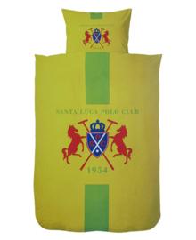 Santa Luca Polo Club Dekbedovertrek Logo (geel) 240x200/220