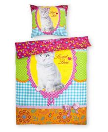 Day Dream Dekbedovertrek Cat Miep (multi) 140x200
